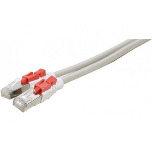 photo Cordon RJ45 S/FTP CAT6a verrouillable Gris - 5,00m