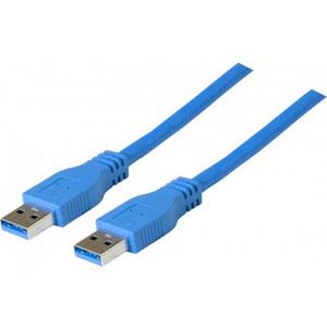 photo Cordon USB3.0 A/A - 2m / Bleu