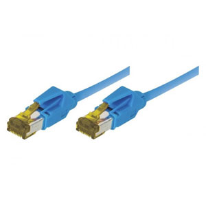 photo Cordon RJ45 CAT 7 S/FTP LSOH snagless - 1m / Bleu