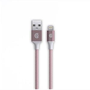 photo Cable Lightning Premium Braided 3m - Or rose