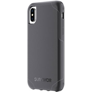 photo Survivor Strong pour iPhone X - Noir/Gris