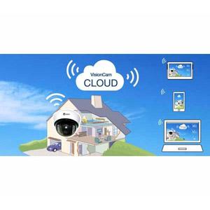 VisionCam Cloud interieur Dôme wifi V.7.2 Blanc
