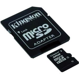 photo Micro SDHC 32 Go Classe 4 - Adaptateur SD