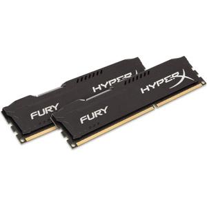 photo HyperX FURY Black 8Go (2 x 4Go) 1600MHz DDR3L CL10