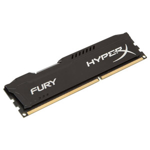 photo HyperX FURY Black 8Go 1600MHz DDR3L CL10 1.35V