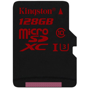 photo microSD UHS-I U3 90R/80W - 128Go + Adapt. SD