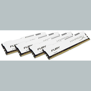 photo HyperX FURY White 64Go (4x16Go) 2400MHz DDR4 CL15