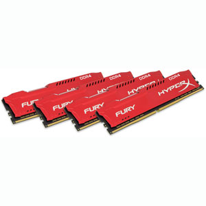 photo FURY Red 4x16Go 2400MHz DDR4 CL15