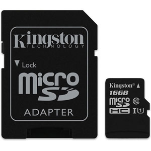 photo Canvas Select microSD UHS-I - 16Go + Adaptateur SD