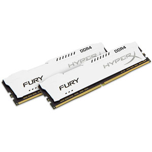 photo FURY White 32Go (2x16Go) 3200MHz DDR4 CL18