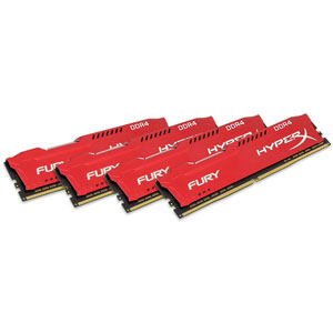 photo FURY Red 64Go (4x16Go) 2933MHz DDR4 CL17