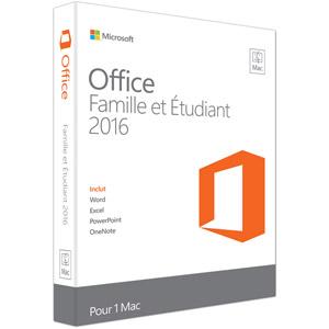 photo Office Famille et Étudiant 2016 pour Mac