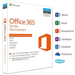 photo Office 365 Famille Premium - 5 postes / 1 an