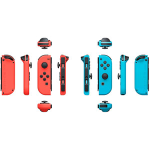 2 Manettes Joy-Con - Bleu/Rouge
