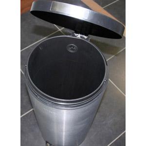 Poubelle cylindrique 30 Litres / Inox