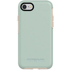 SYMMETRY pour iPhone 7/8 - Beige/Turquoise