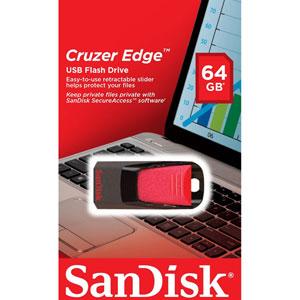 Cruzer Edge - 64Go / Noir, rouge