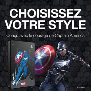 Game Drive PS4 2To - Avengers Captain America