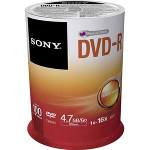 photo Pack de 100 DVD-R 4.7 Go