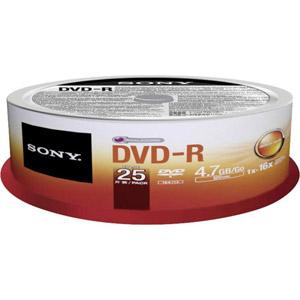 photo Pack de 25 DVD-R 4.7 Go