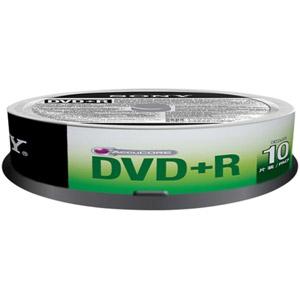 photo Pack de 10 DVD+R 120 mm 4,70 Go