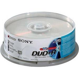 photo Pack de 25 DVD+R 120 mm 4.70 Go