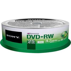 photo Pack de 25 DVD+RW 120 mm 4.70 Go