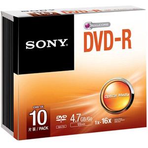photo Pack de 10 DVD-R 120 mm 4.70 Go