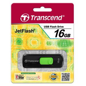 JetFlash 500 16 Go Vert/Noir
