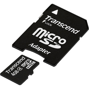 photo Micro SDHC 4 Go Class 4 + Adaptateur SD