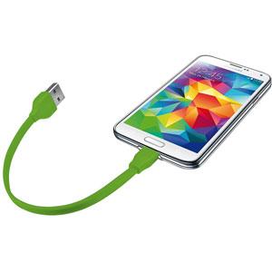 Cable plat Flat Micro USB - 20cm / Vert