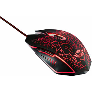 GXT 105 Izza Illuminated Gaming Mouse - Noir/Rouge
