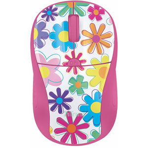 Primo Wireless Mouse - pink flowers