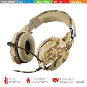 GXT 322D Carus Gaming Headset - Desert camo