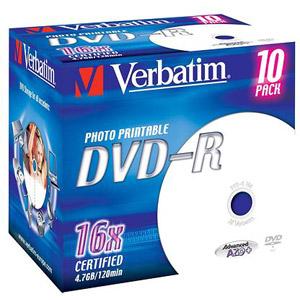 photo Pack de 10 DVD-R 4,7 Go
