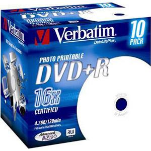 photo Pack de 10 DVD+R 4,7 Go