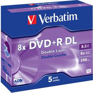 photo Pack de 5 DVD+R 8,5 Go Revêtement Advanced AZO