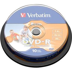 photo Pack de 10 DVD-R 1.4 Go - 8 cm