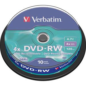 photo Pack de 10 DVD-RW 4.7 Go - Revêtement SERL