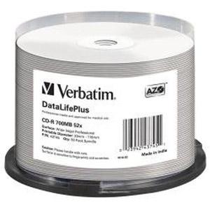 photo Pack de 50 CD-R 52x Imprimable Inkjet