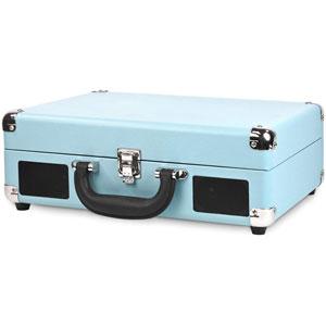 Valise Vintage portable Bluetooth - Turquoise