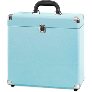Valise à vinyles 30 albums - Turquoise
