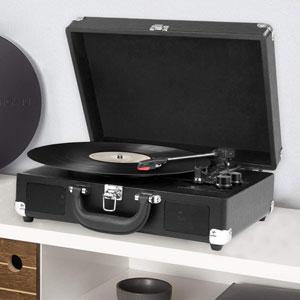 Premium Platine Vinyle Valise Vintage Bluetooth