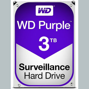 WD Purple 3 To SATA 6Gb/s 64Mo