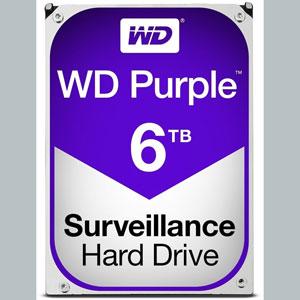 WD Purple 6 To SATA 6Gb/s 64Mo