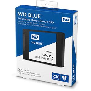 WD Blue 3D NAND SATA SSD 2.5  - 250Go