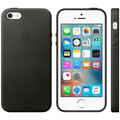 Photos Coque en cuir iPhone SE - Noir