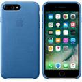Photos Coque en cuir iPhone 7 Plus - Bleu Méditerranée