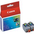 Photos 2 x Cartouche d'encre 3 couleurs - BCI-16CL