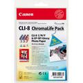 Photos Cartouche 3 couleurs (J/M/C)+ papier - CLI-8